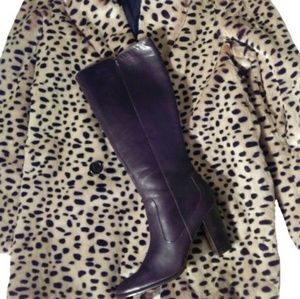 Brown Leather Knee High Boots by Harold's 8.5
